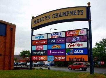 Mostyn Champneys Retail Park in Llandudno
